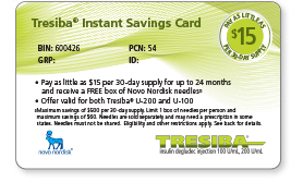 Tresiba® Instant Savings Card